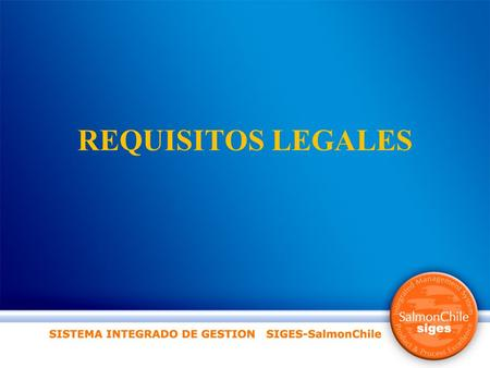 REQUISITOS LEGALES.