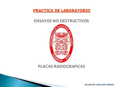 PRACTICA DE LABORATORIO ENSAYOS NO DESTRUCTIVOS