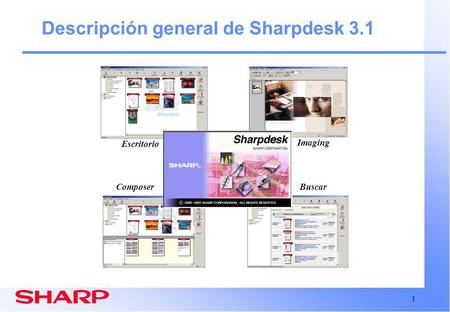 1 Descripción general de Sharpdesk 3.1 Escritorio ComposerBuscar Imaging.