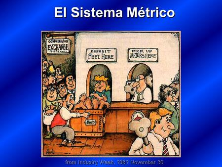 El Sistema Métrico from Industry Week, 1981 November 30.