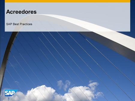 Acreedores SAP Best Practices.