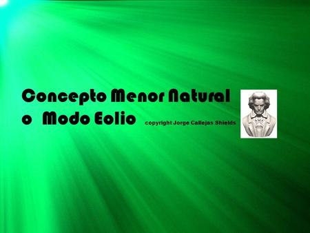 Concepto Menor Natural