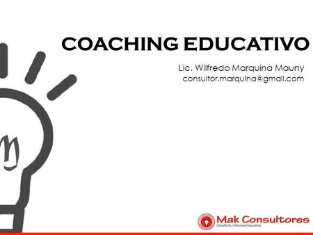 COACHING EDUCATIVO Lic. Wilfredo Marquina Mauny