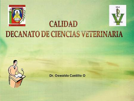 DECANATO DE CIENCIAS VETERINARIA