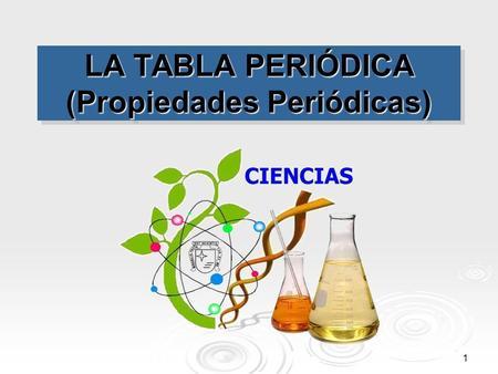 La tabla peridica qumica 4 eso ppt video online descargar la tabla peridica propiedades peridicas urtaz Image collections