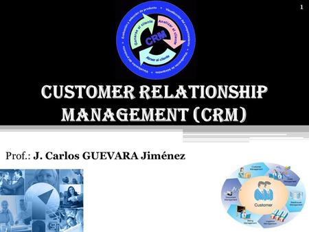 1 Customer Relationship Management (CRM) Prof.: J. Carlos GUEVARA Jiménez.