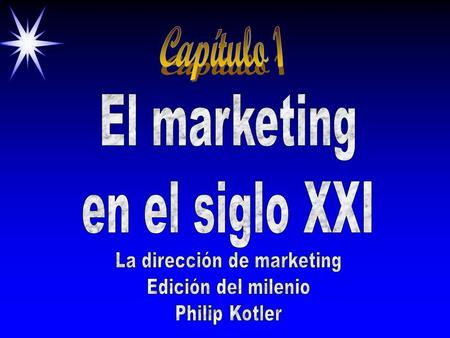 La dirección de marketing