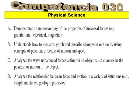 Competencia 030 Physical Science.