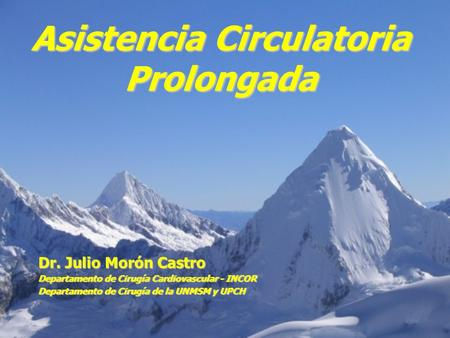Asistencia Circulatoria Prolongada
