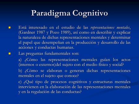 Modelo cognitivo conductual en educacion