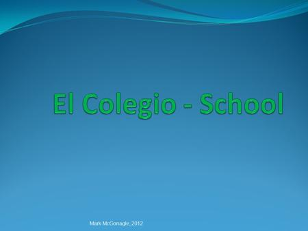 El Colegio - School Mark McGonagle, 2012.