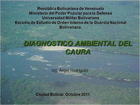 DIAGNOSTICO AMBIENTAL DEL CAURA