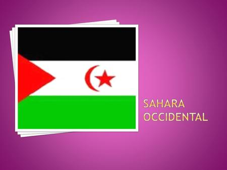 Sahara Occidental.