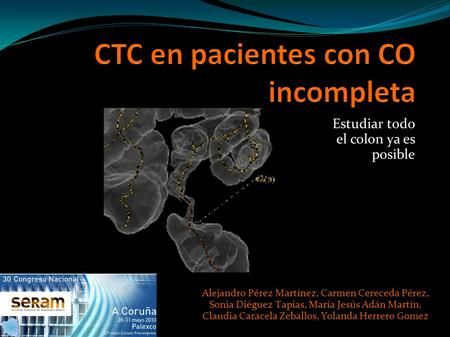 CTC en pacientes con CO incompleta