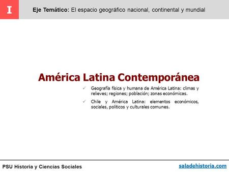 América Latina Contemporánea