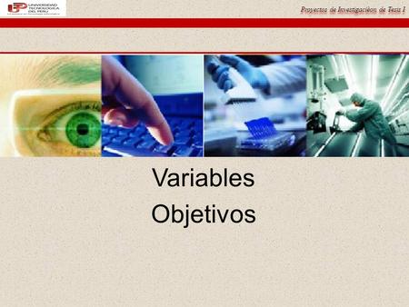 Variables Objetivos.