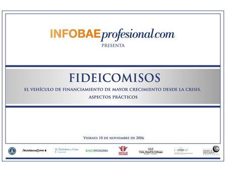 FINANCIAMIENTO EMPRESARIO Y FIDEICOMISO FINANCIERO