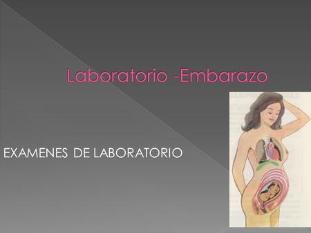 Laboratorio -Embarazo