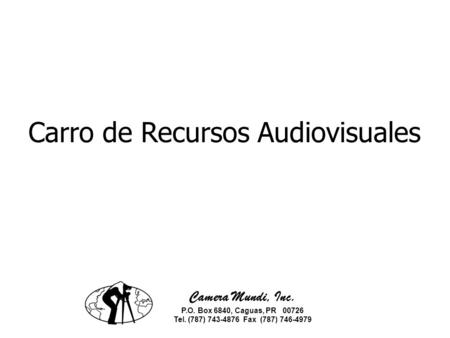 Carro de Recursos Audiovisuales