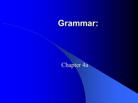 Grammar: Chapter 4a. The imperfect tense refers to the past, but doesnt indicates specifically when the event begins or ends. To form the imperfect tense.