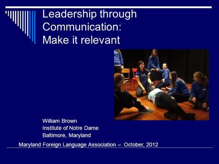 Leadership through Communication: Make it relevant