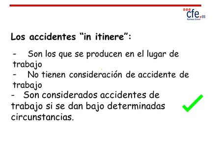 "Los accidentes ""in itinere"":"