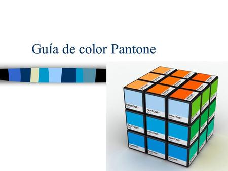 Guía de color Pantone.