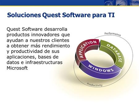 Copyright © 2007 Quest Software Gestión de Infraestructuras Microsoft Francisco Albares Director General Eventos Regionales.