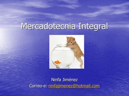 Mercadotecnia Integral