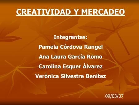 CREATIVIDAD Y MERCADEO