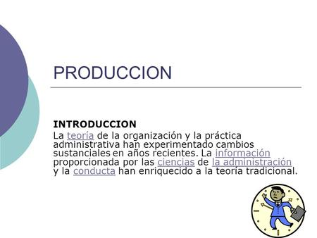 PRODUCCION INTRODUCCION