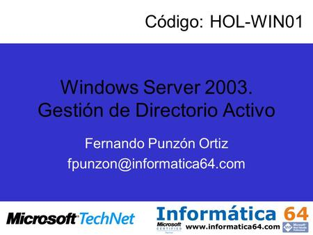 Windows Server Gestión de Directorio Activo