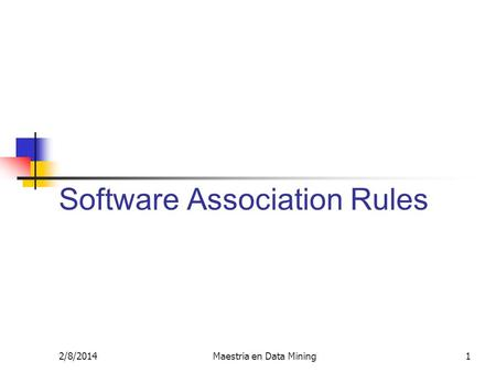 Software Association Rules