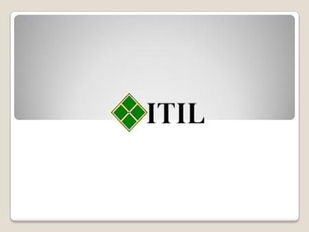 "¿Qué es ITIL? ""Information Technology Infrastructure Library"""