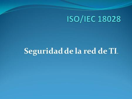 Seguridad de la red de TI.