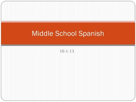 10-1-13 Middle School Spanish. Sigue las direcciones Necesitan un lapiz o un boli y un cuaderno – You need a pencil or pen Saquen un libro Saquen el foldable.