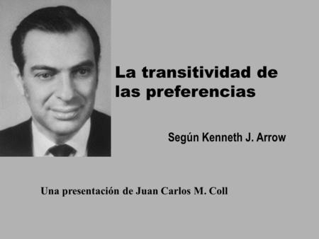La transitividad de las preferencias
