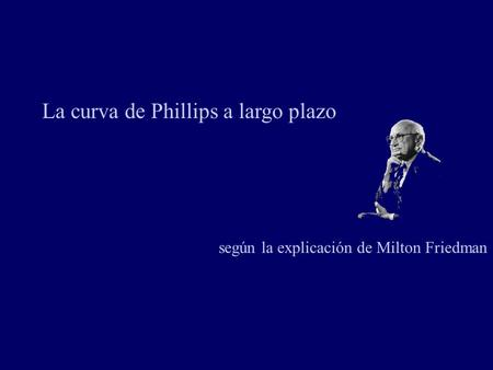 La curva de Phillips a largo plazo
