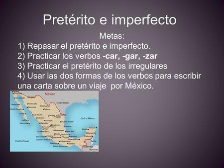 Pretérito e imperfecto