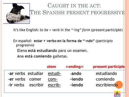 Caught in the act: The Spanish present progressive