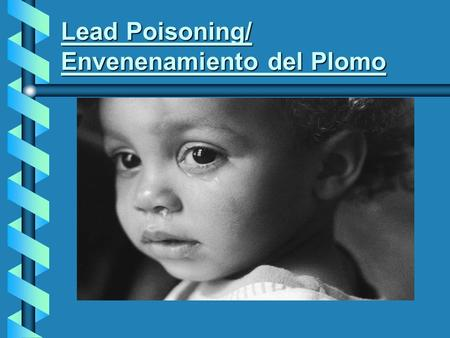 Lead Poisoning/ Envenenamiento del Plomo. What do you think lead poisoning is?/¿Qué piensa usted el envenenamiento del plomo es?