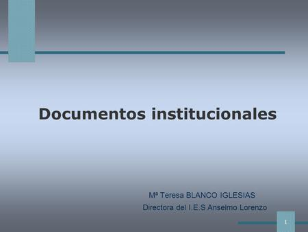 Documentos institucionales