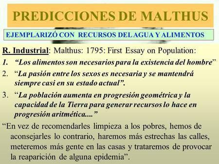 first essay on population malthus