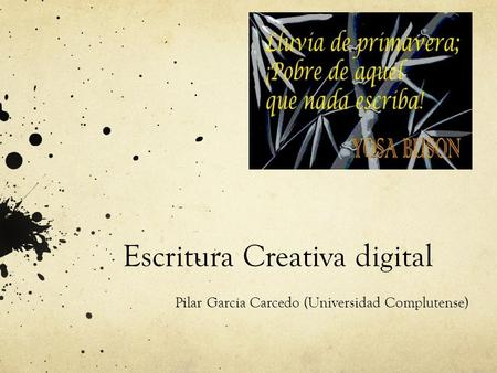 Escritura Creativa digital