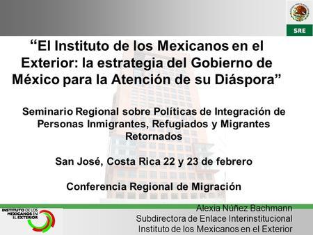 El instituto de los mexicanos en el exterior ime ppt - Instituto de los mexicanos en el exterior ...