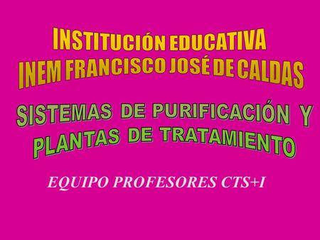 EQUIPO PROFESORES CTS+I