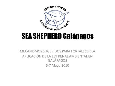 SEA SHEPHERD Galápagos