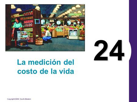 Copyright©2004 South-Western 24 La medición del costo de la vida.