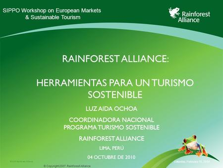 rainforest alliance: herramientas para un turismo sostenible