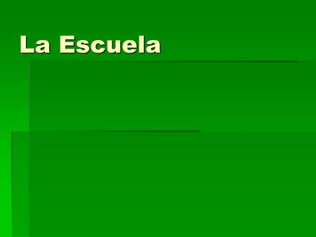 La Escuela. What do you notice about this Spanish students schedule? Are there any COGNATES? (words that look the same in Eng and Spanish?